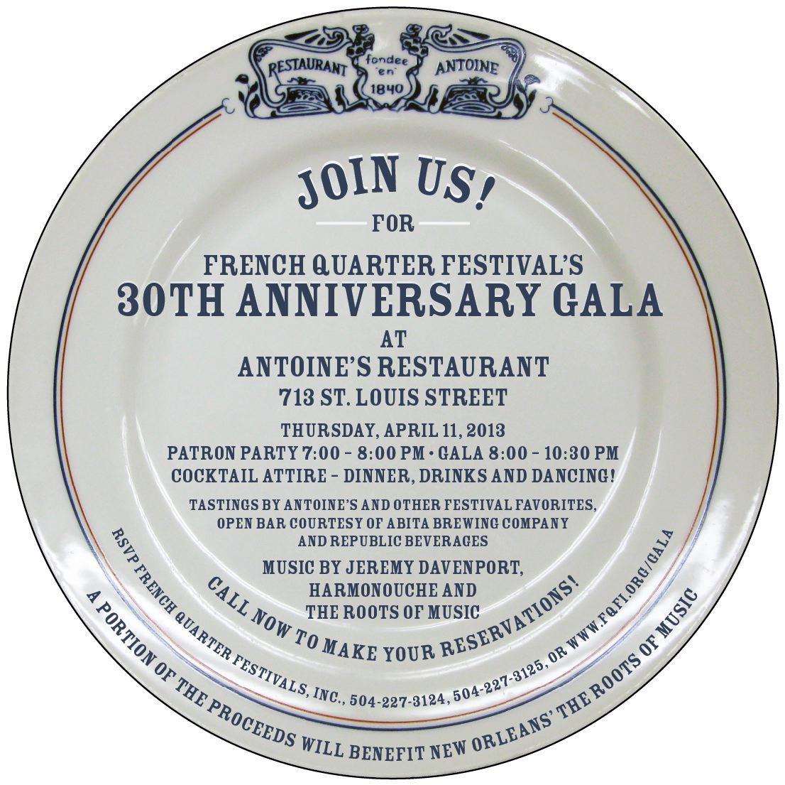 2013 FQF Gala Invitation