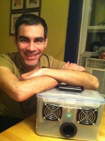 Instructor Aurelio Ramos and his Boom Box to GO