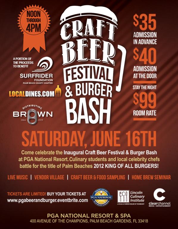 Craft beer festival burger bash at pga national resort for Food truck and craft beer festival