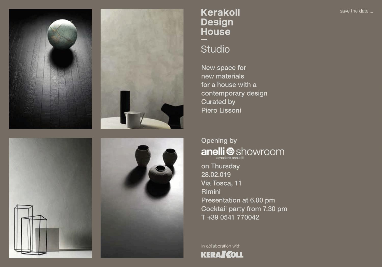 Invito per l'evento di presentazione del progetto Kerakoll Design House