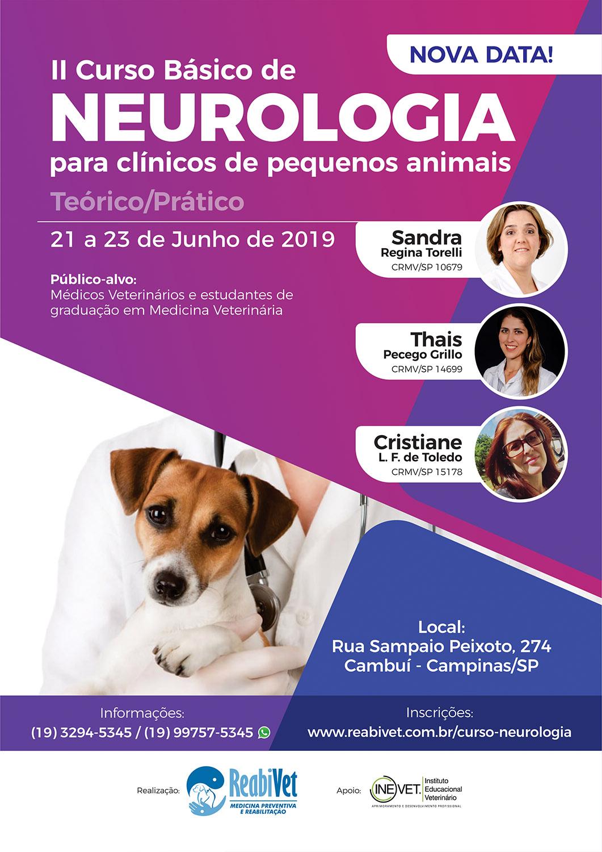 II Curso Básico de Neurologia para Clínicos de Pequenos Animais