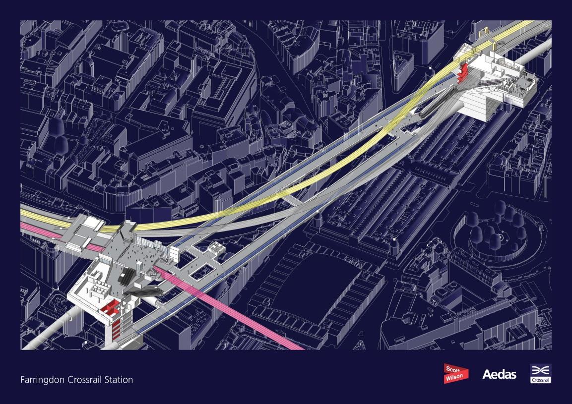 Farringdon station layout
