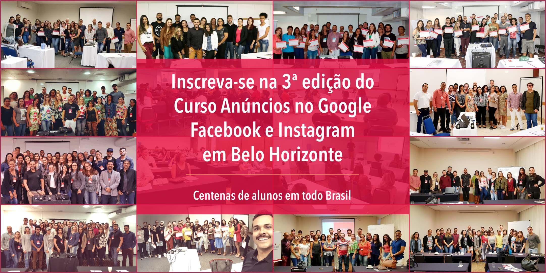 Curso Anúncios no Google, Facebook e Instagram - BH