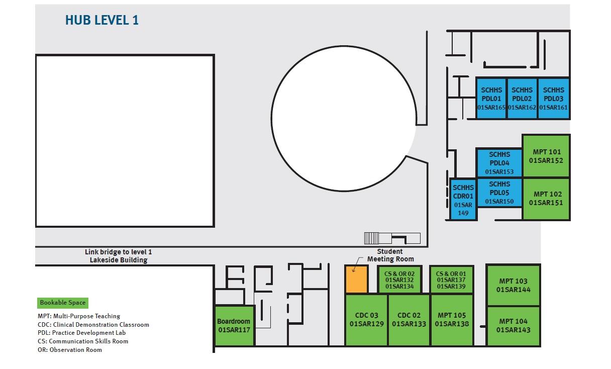 Map of SCHI Multipurpose Teaching Room 104 Floor 1