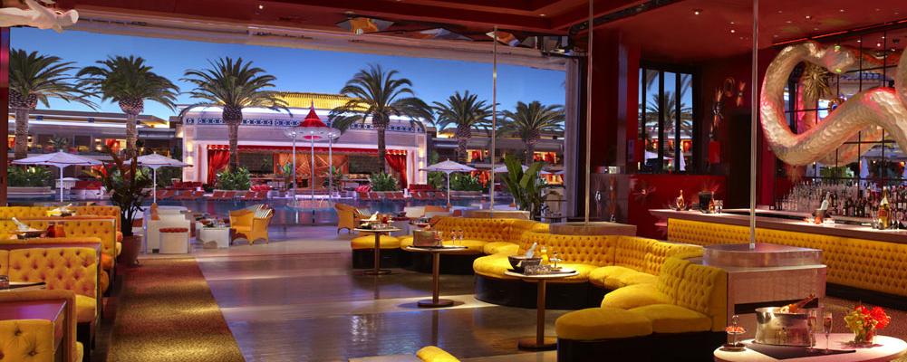 Night time pool party Vegas