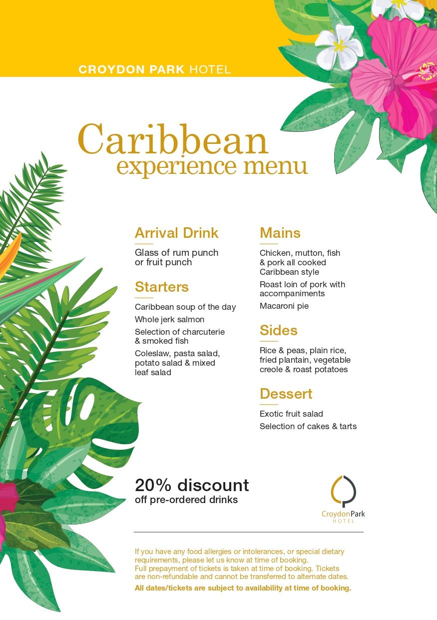 Caribbean Experience Menu