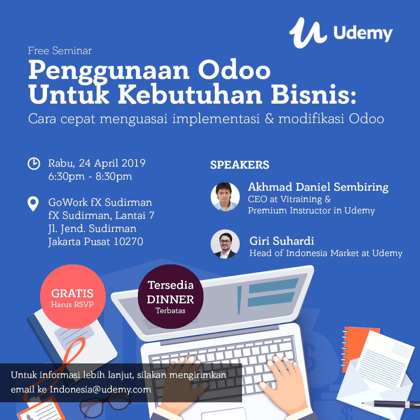 Seminar Odoo Udemy Indonesia