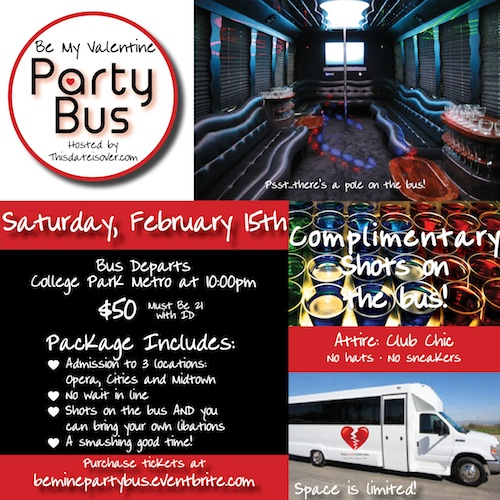 Be My Valentine Party Bus Tour Tickets, Sat, Feb 15, 2014 ...