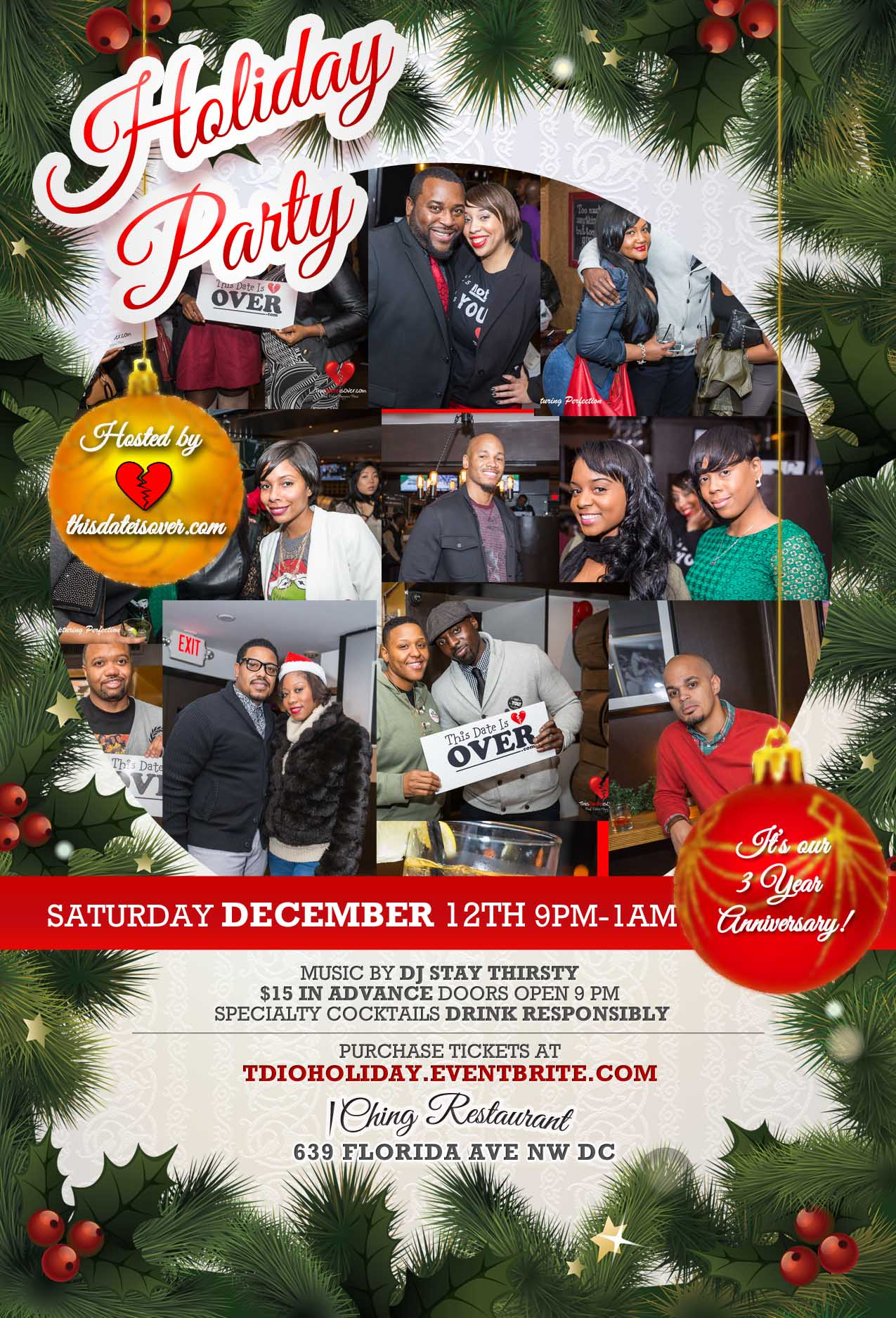 Upcoming Event 12•12•15: 3 Year Anniversary & Holiday Party