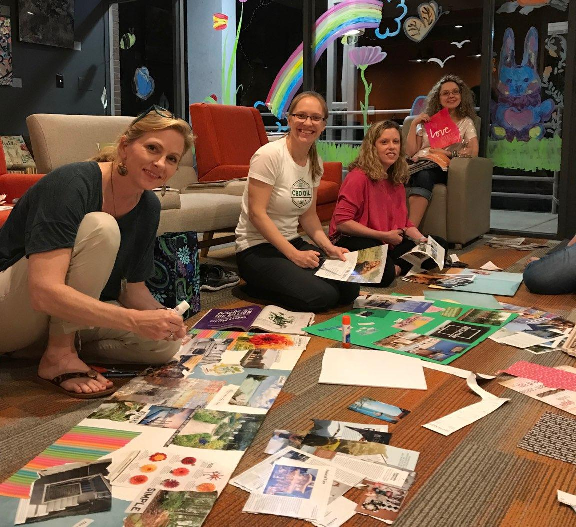 Gals night creating Vision Boards