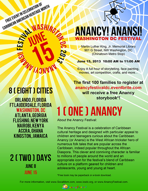 Anancy! Anansi! Folklore Festival and Storytelling for Children