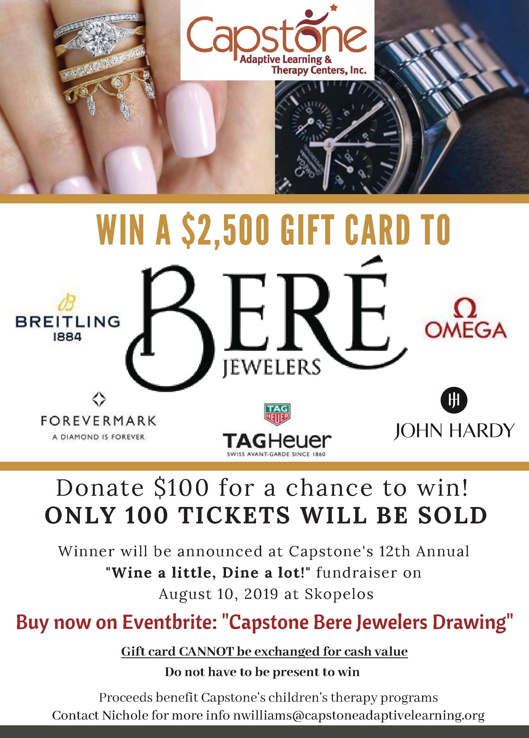 Bere JEwlers flyer to win