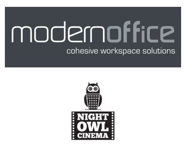 Modern Office and Night Owl Cinema logos