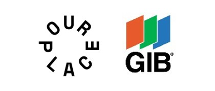 Our Place and GIB logos