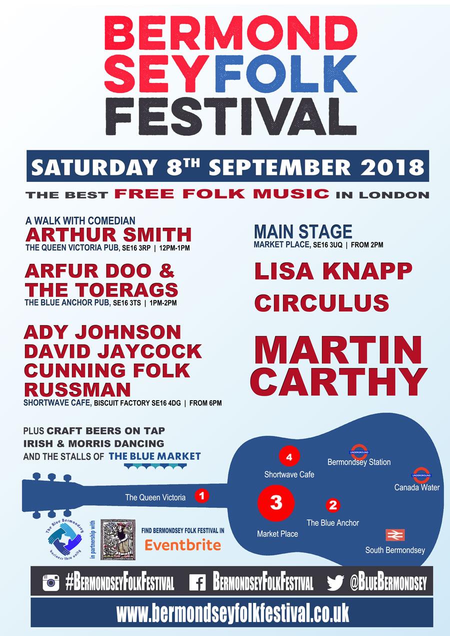 Bermondsey Folk Festival 2018 Official Poster