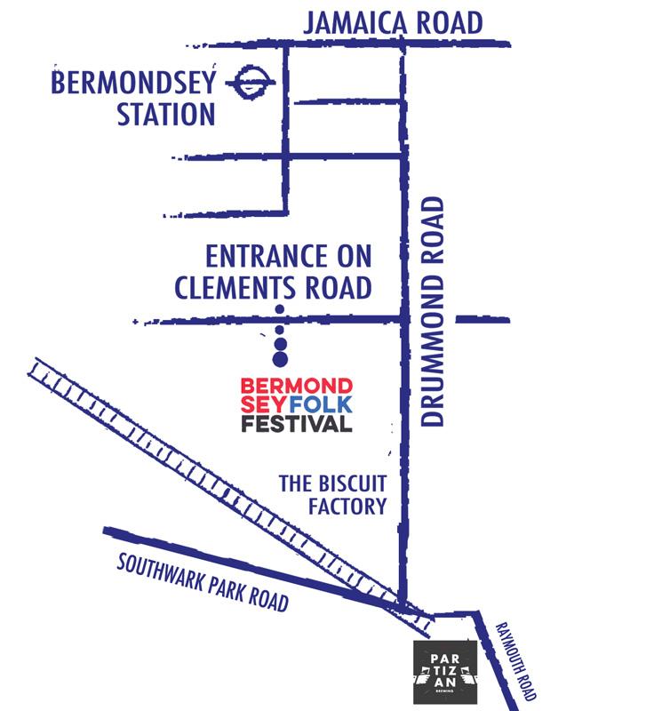 Bermondsey Folk Festival 2019 Map