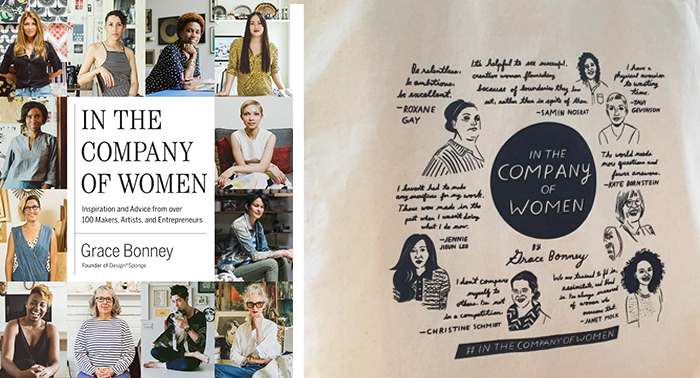 In the Company of Women book and limited edition tote bag
