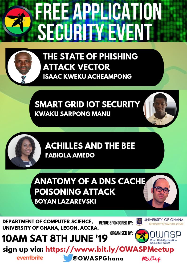 OWASP Ghana Speakers Line up