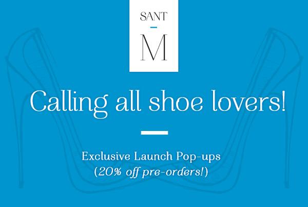 SantM Shoes Pre-Order Pop-Up