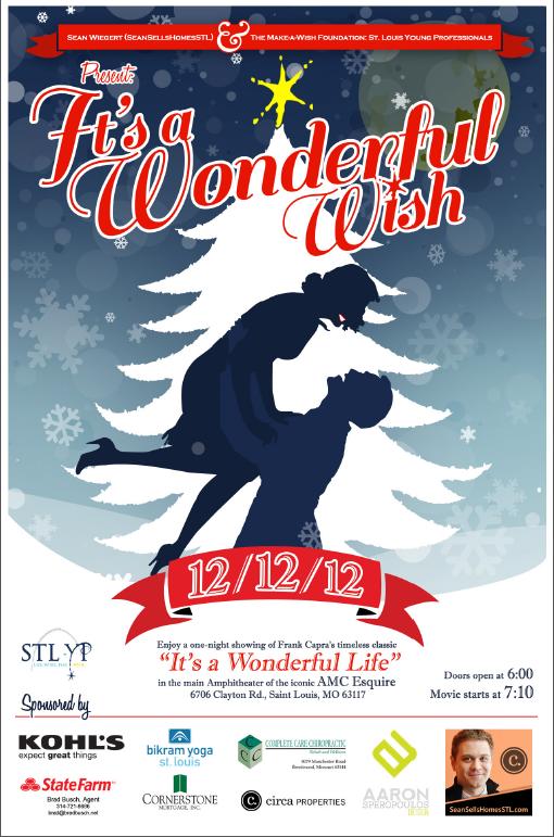 It's A Wonderful Wish Movie Night Poster