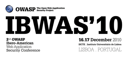 OWASP IBWAS'10 Conference Day (17th. December)