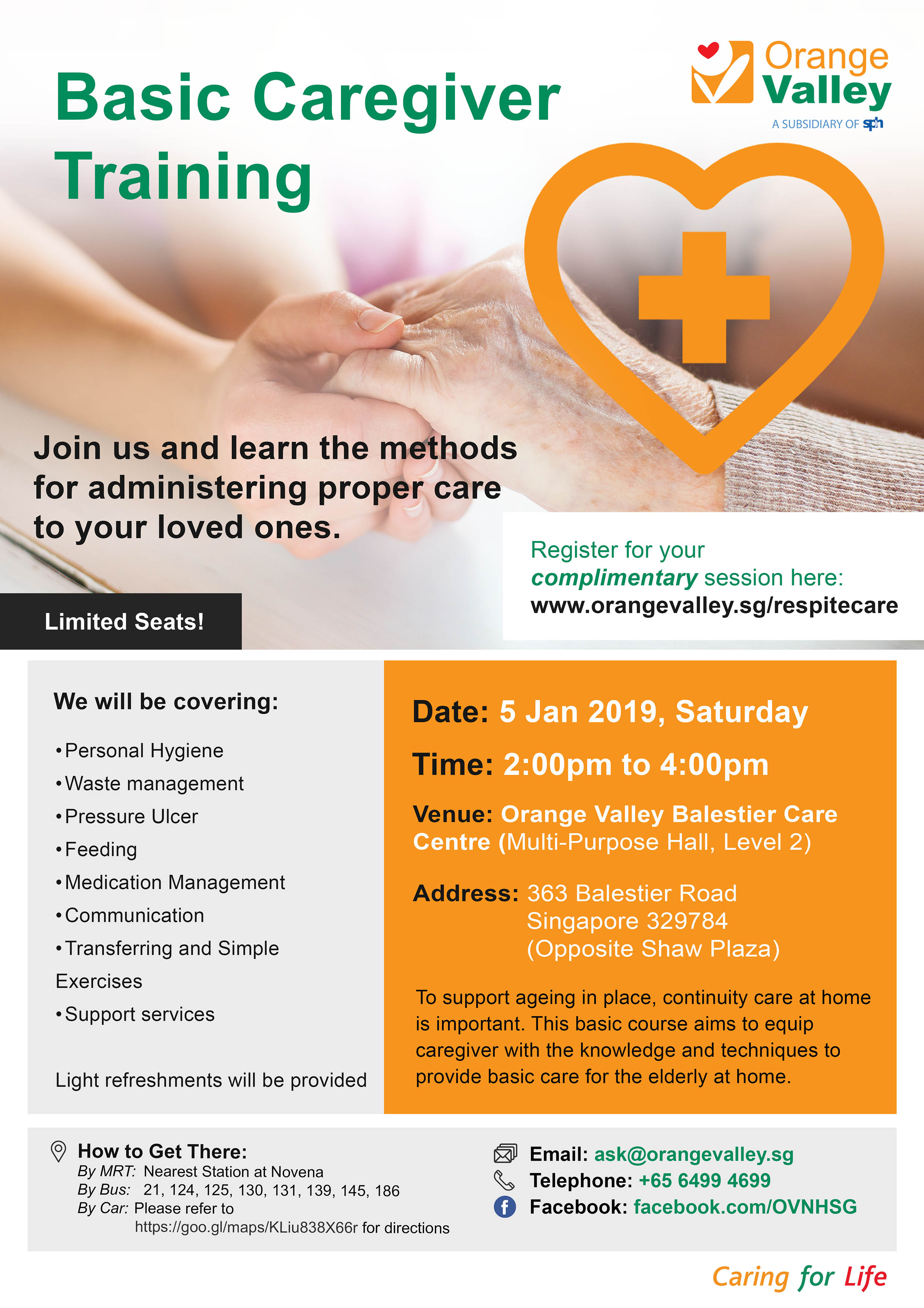 Orange Valley Basic Caregiver Training Poster