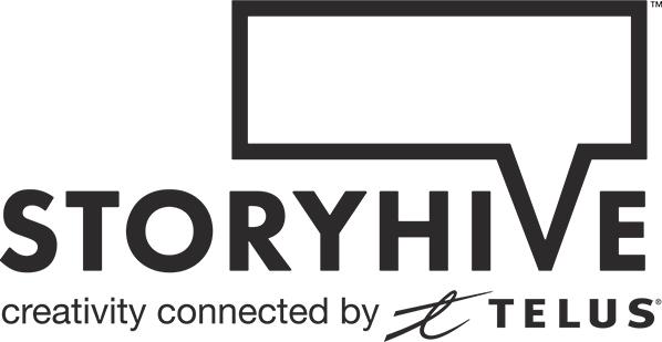 Telus STORYHIVE logo