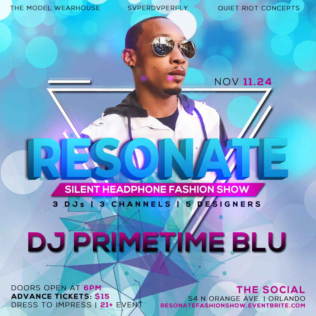 DJ Primetime Blu Fashion Show