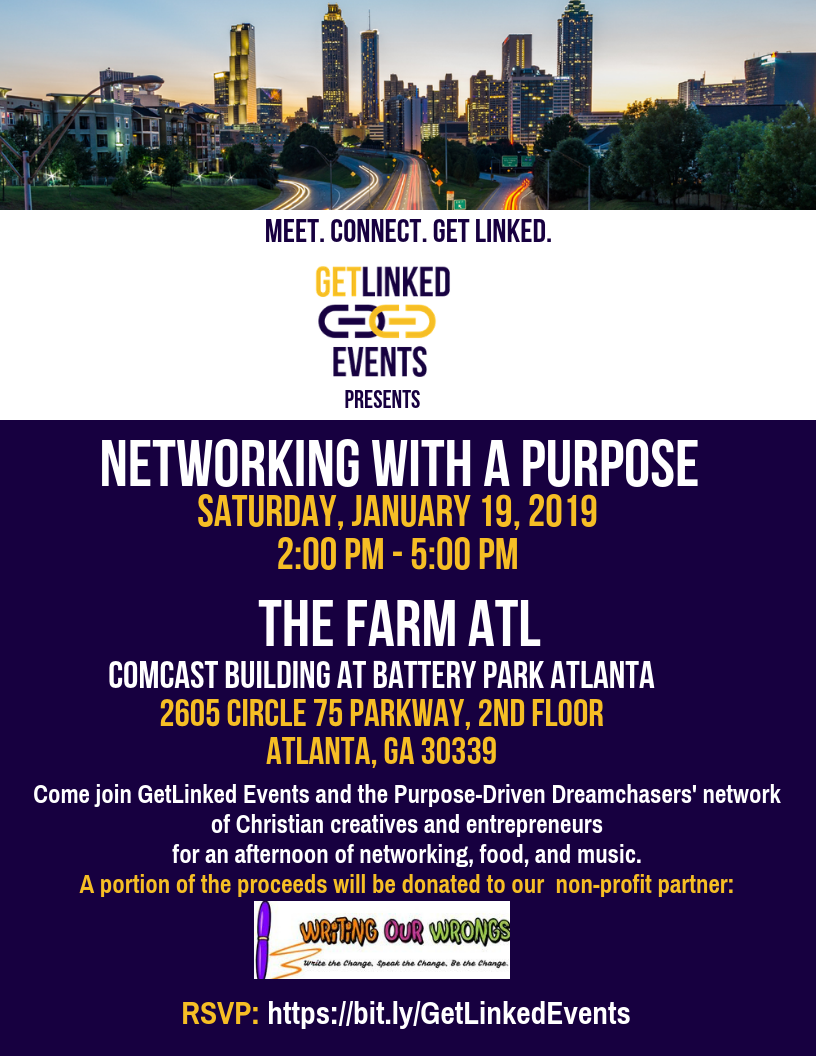 GetLinked Events' Networking with a Purpose Flyer