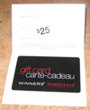 Winner's Homesense Gift Card