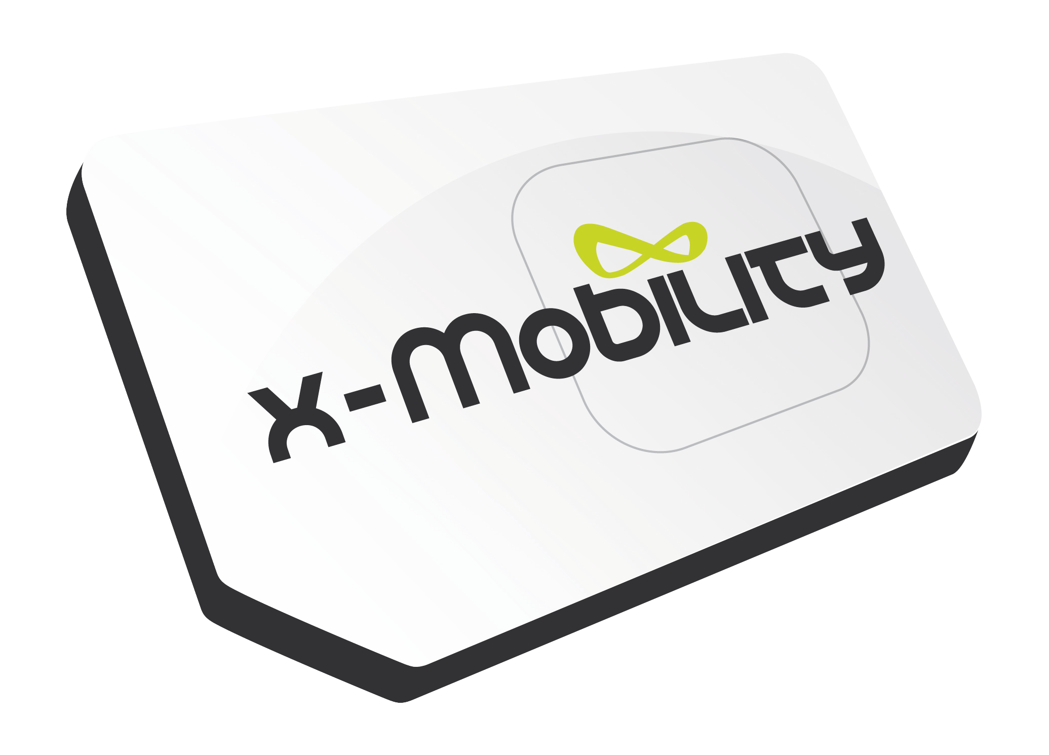 x-mobility logo of a sim card