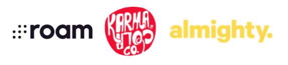 Sponsors: Roam Creative, Karma Cola, Almighty