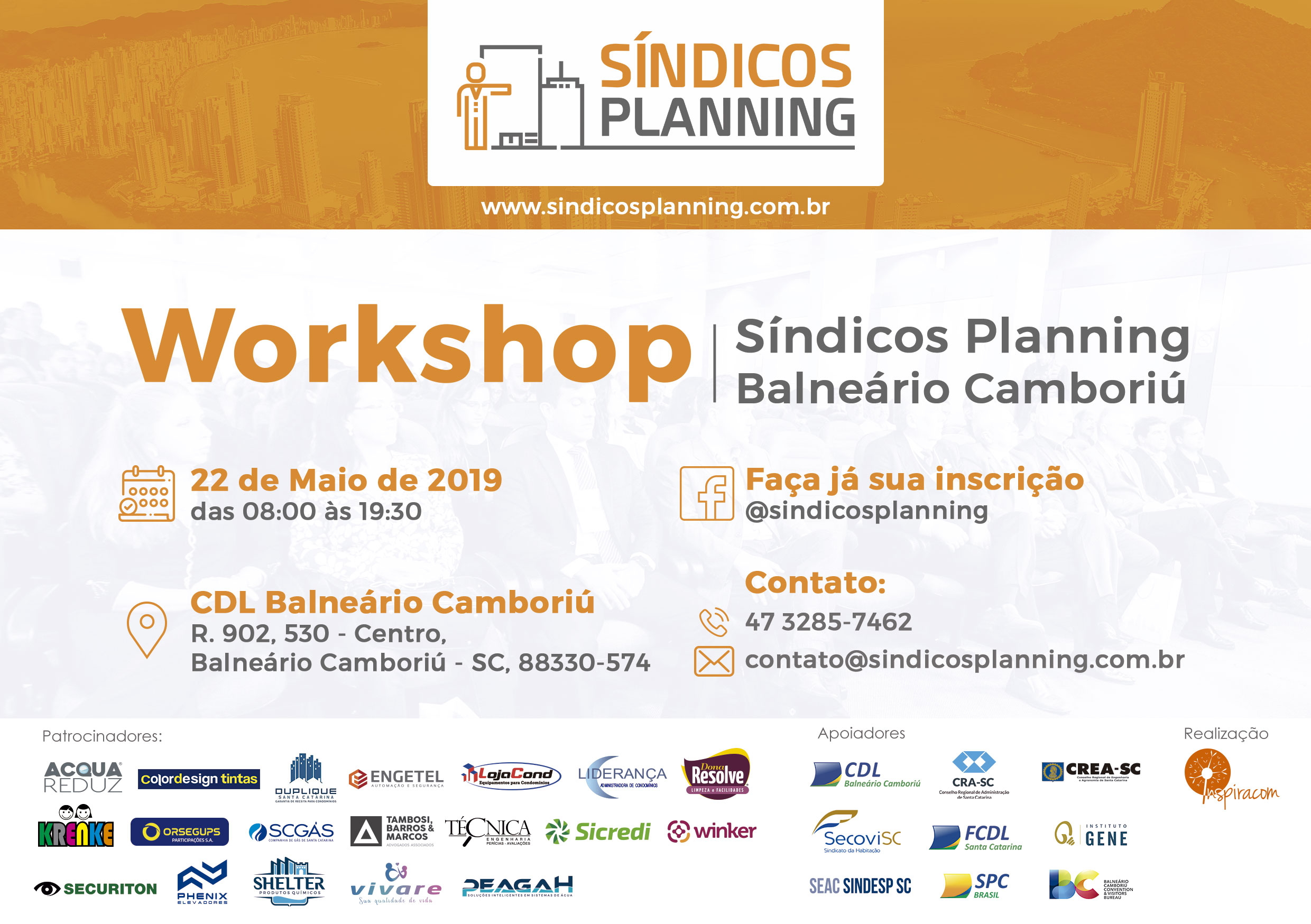 Convite Workshop Sìndicos Planning BC