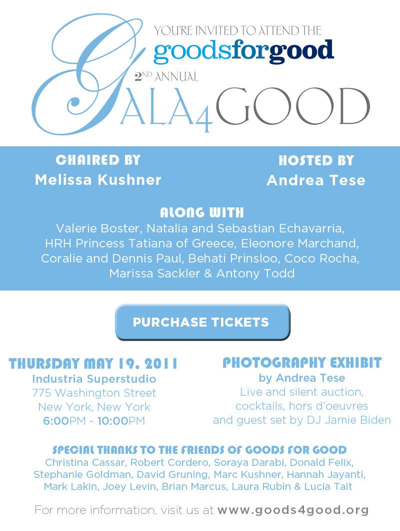 Goods 4 Good – Gala 4 Good