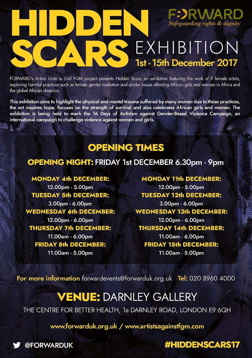Hidden Scars Exhibition Opening times