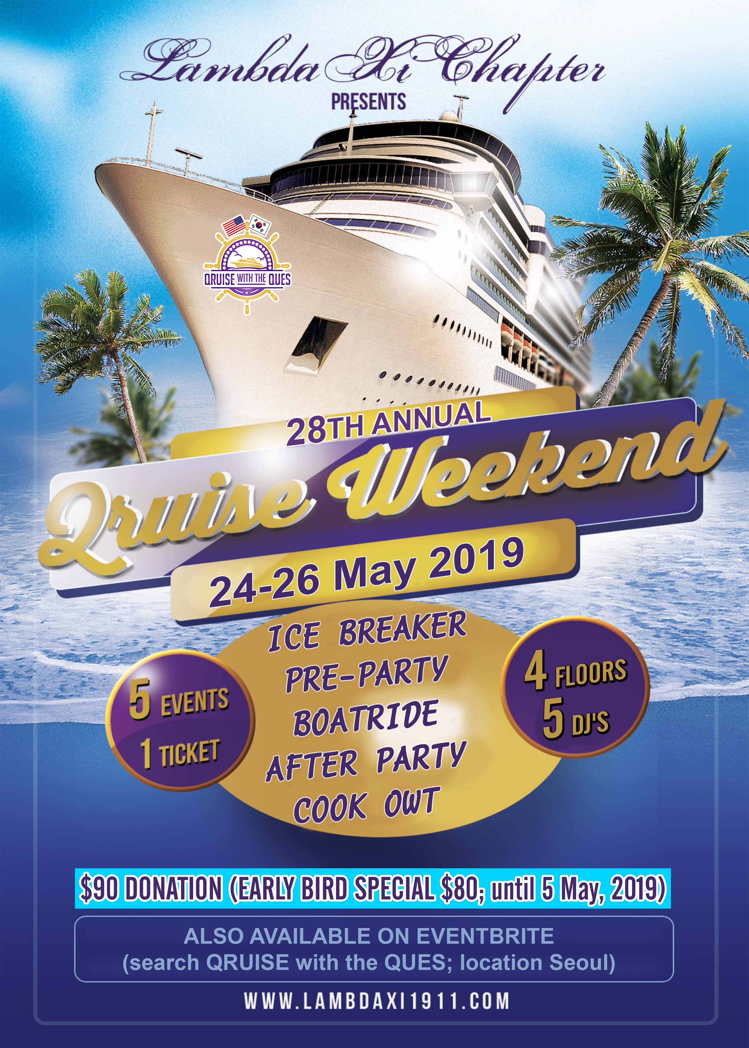 Qruise with the Ques Weekend - 24 MAY 2019