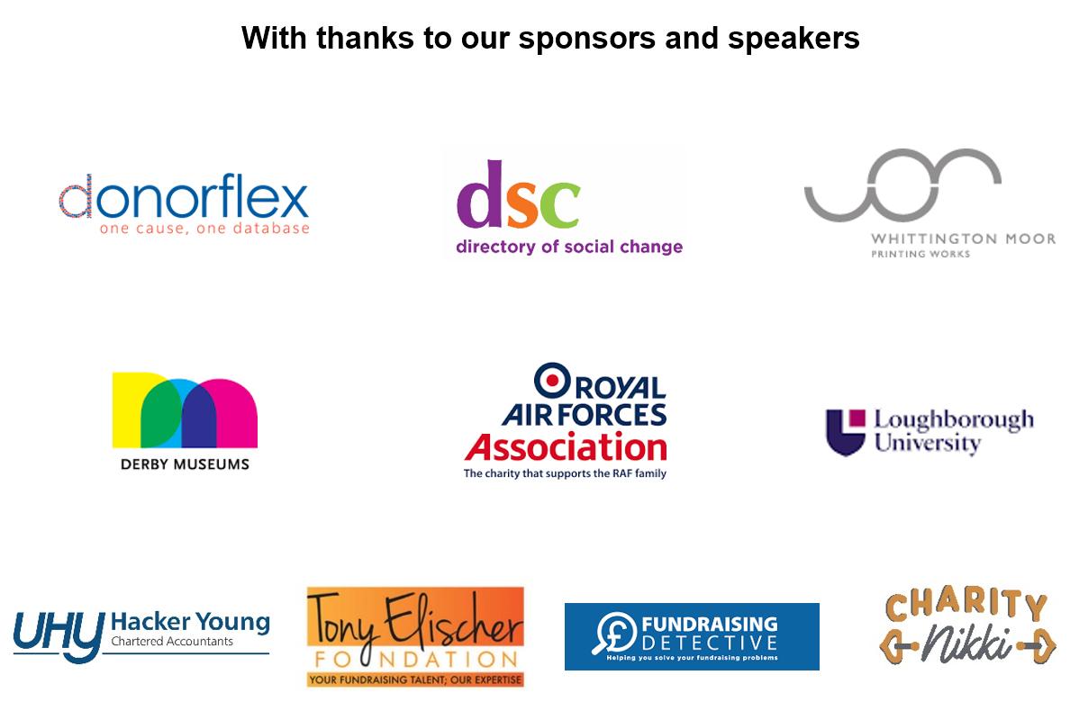 Sponsor and speaker logos