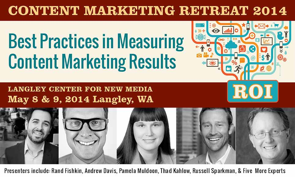 content marketing retreat banner