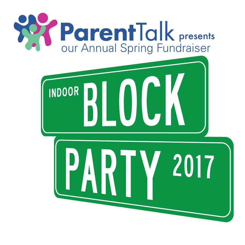 Parent Talk Presents:  Indoor Block Party 2017 Street Signs