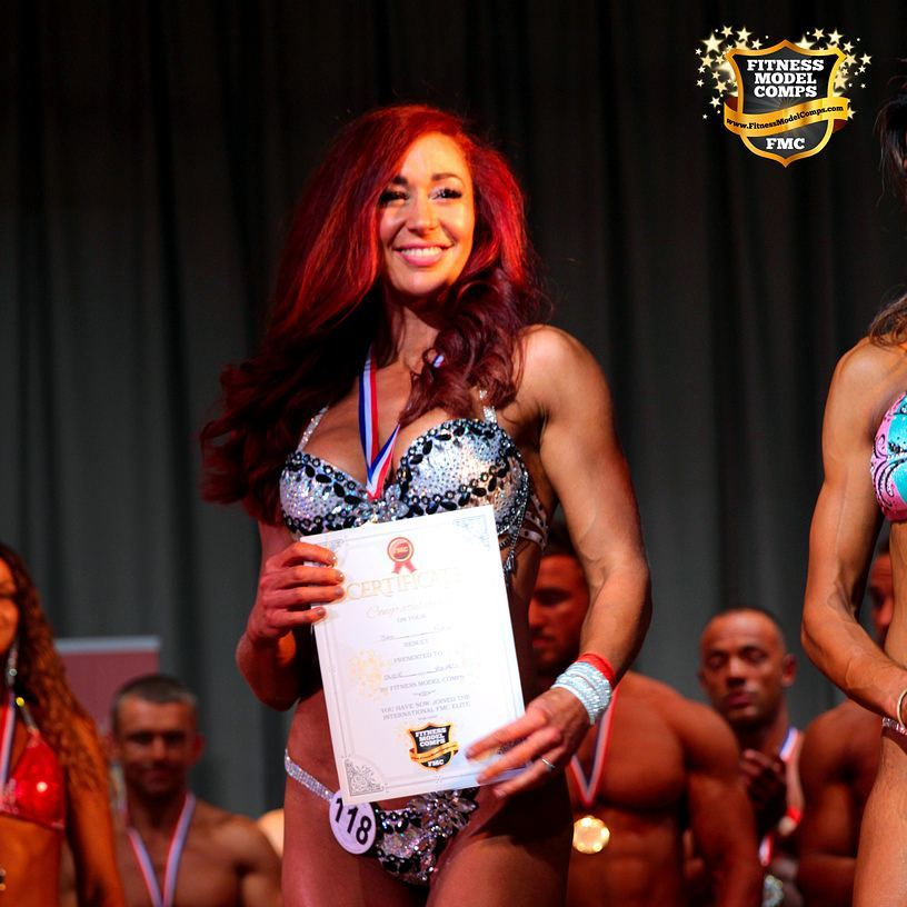 Winning bodybuilding competition