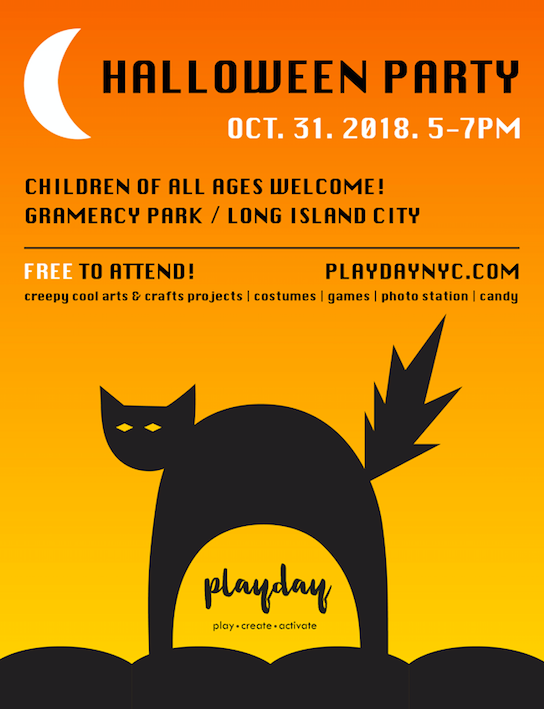 PLAYDAY Halloween Party Flyer
