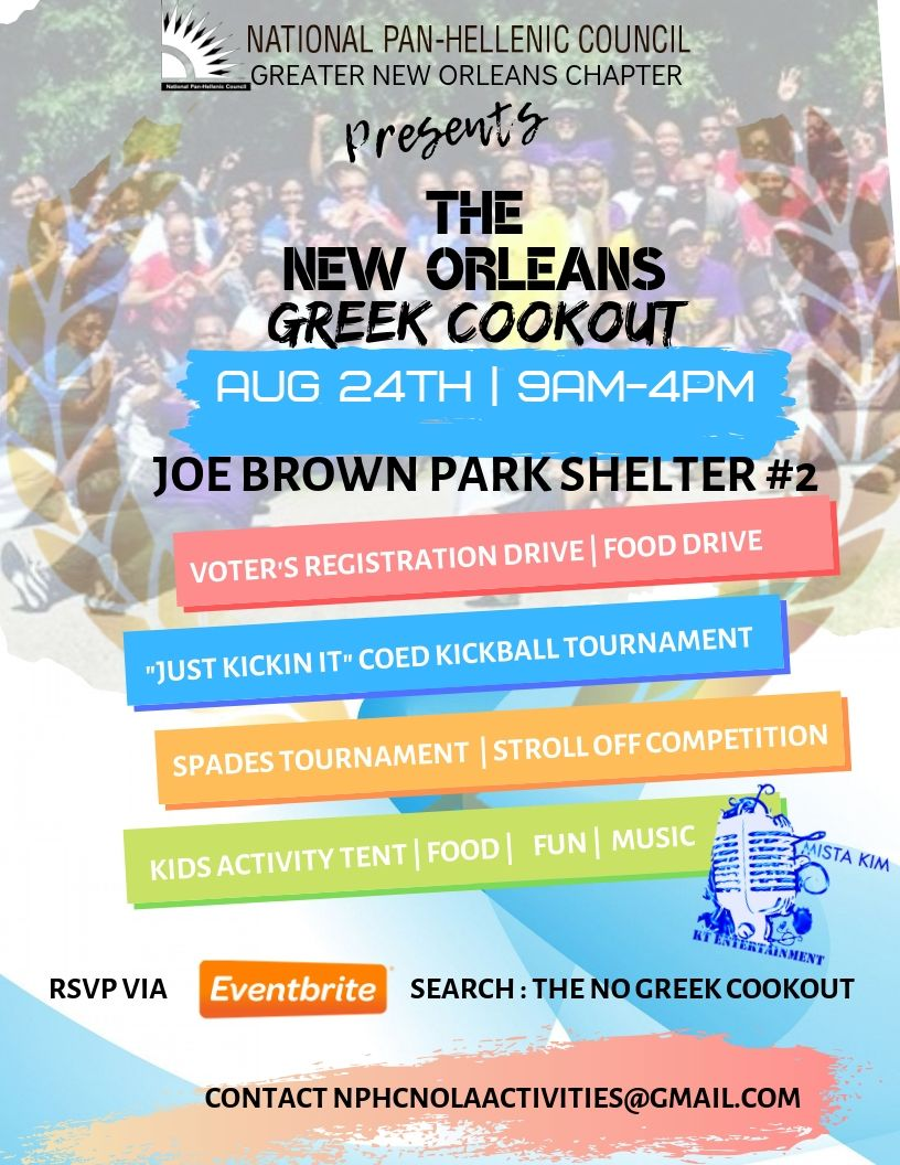 NO Cookout Event Flyer