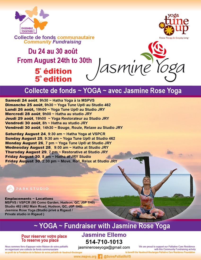 Jasmine Rose Yoga Fundraiser