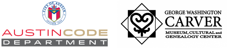 Austin Code Department and Carver Museum logos