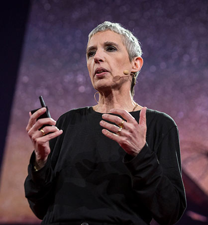 Nathalie Cabrol during TED Talk