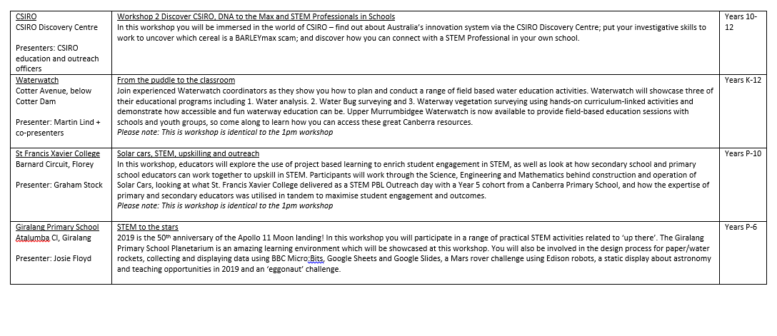 STEMEd Conference Friday Program Page 3