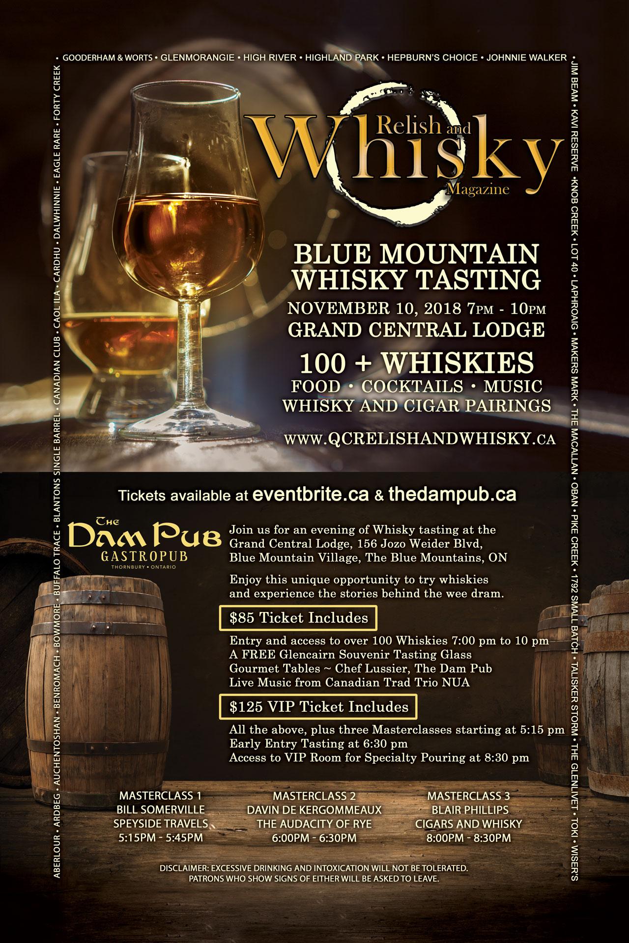 Blue Mountain Whisky Tasting