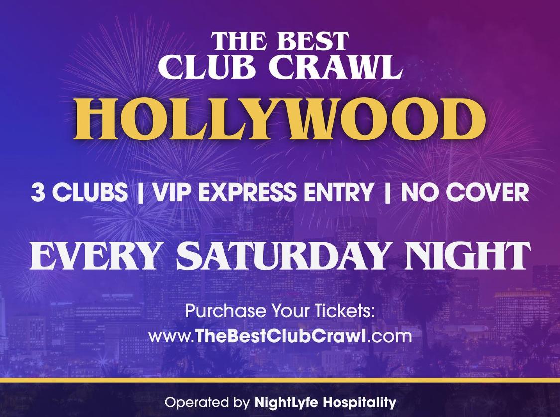 The Best Club Crawl Every Saturday Night Eventbrite Flier