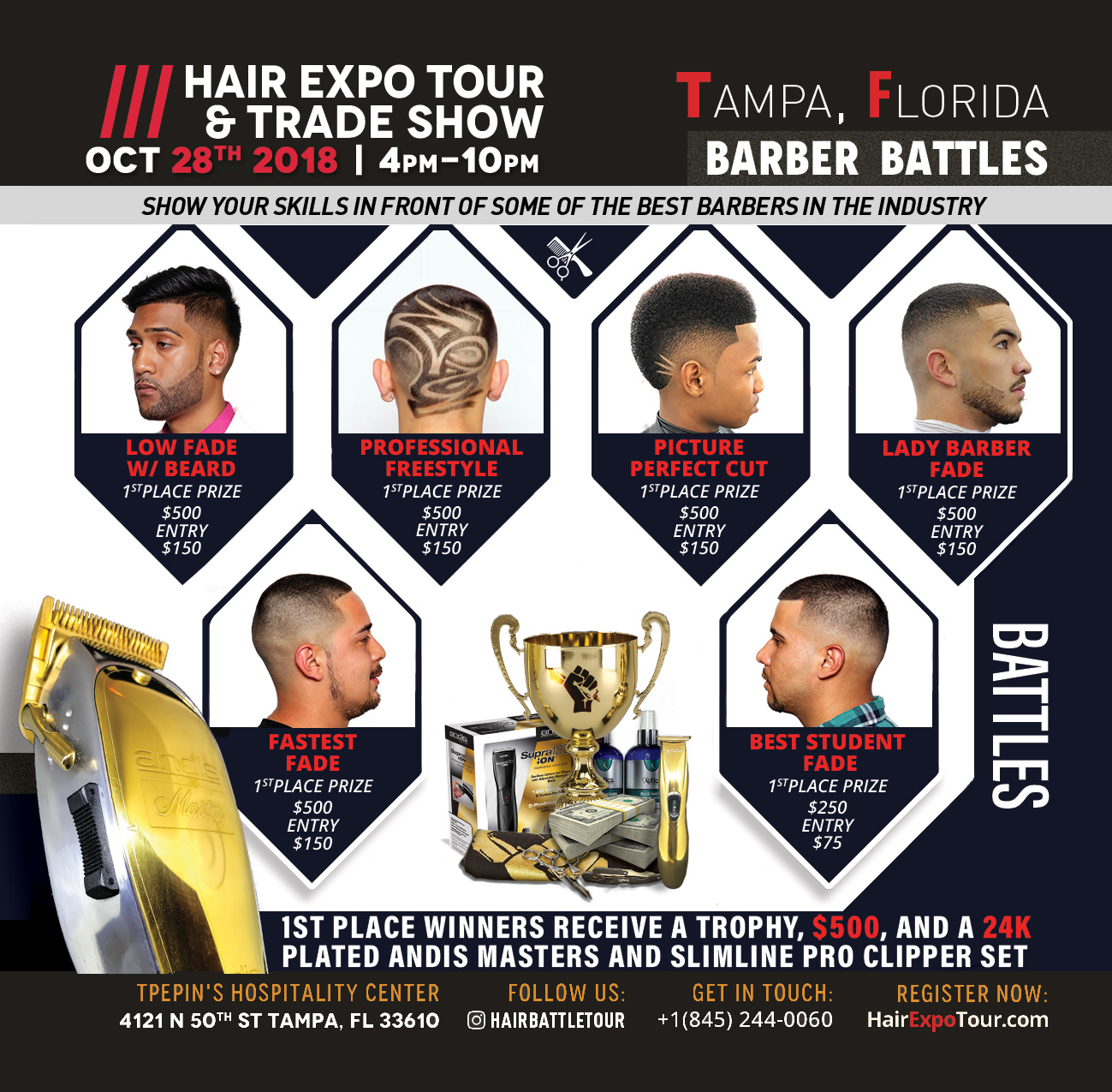 TAMPA HAIR BATTLE TOUR AND TRADE SHOW OCTOBER 28, 2018 - 28