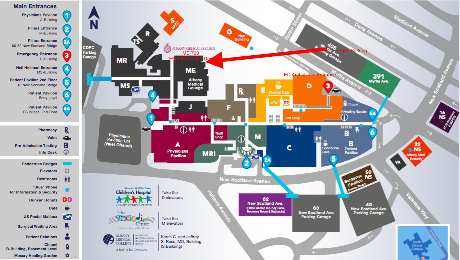 Albany Med Campus & Parking Map